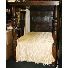 Antique Period English 16th c. Oak Four Poster Bed