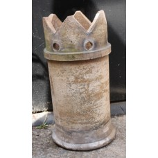 Antique Clay Chimney Garden Planter Architectural