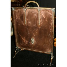 Antique Copper & Brass Fire Screen