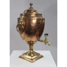 Georgian Adam Style Copper & Brass Samovar