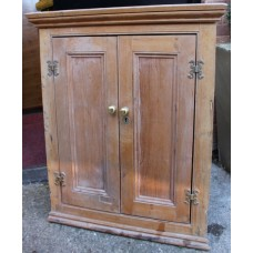 Antique Georgian Pine Hanging Corner Cabinet Cupboard