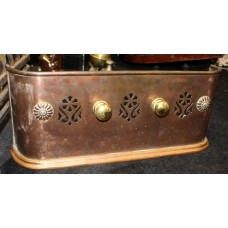 Antique Small Copper & Brass Fire Fender