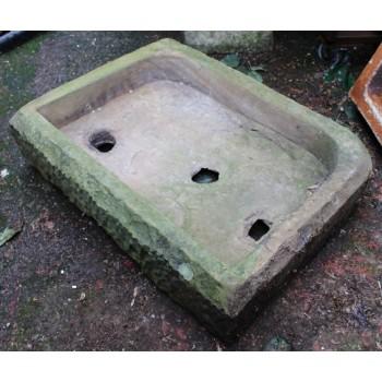 Antique Victorian Stone Pantry Sink Planter Trough