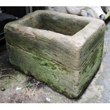 Antique Deep Sandstone Trough Planter