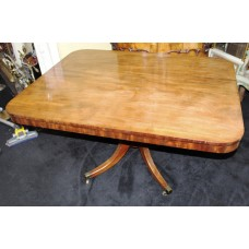Antique 19th c. Mahogany Pedestal Breakfast Table
