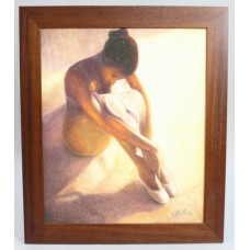 Ballerina Oil Painting by Vale Oil on Canvas