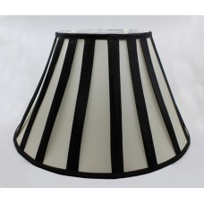 Black & White Lined 16 Inch Lined Table Lampshade