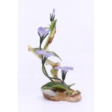 Boehm Porcelain & Painted Bronze Flower Periwinkle