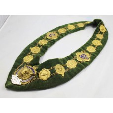 Brass & Enamel Velvet Lodge Chain Masonic Regalia