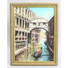Bridge of Sighs Venice by Alan King Oil on Board