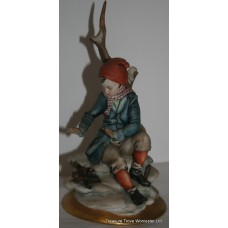 Capodimonte Boy Warming His Hands over Fire​