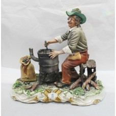 Capodimonte Chestnut Roaster Porcelain Sculpture by Conte