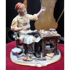 Capodimonte Cobbler Figurine Sculpture by Cortese
