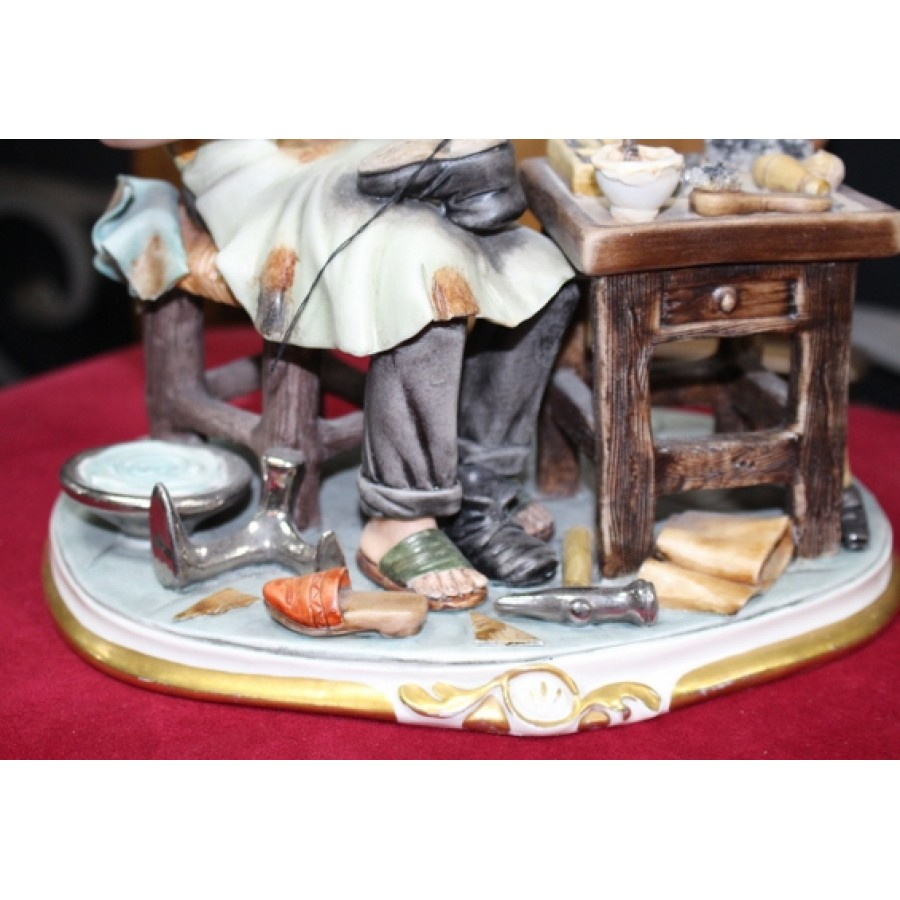 Capodimonte Cobbler Figurine Sculpture By Cortese