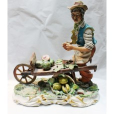 Capodimonte Melon Seller Figurine by Conte