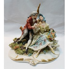 Capodimonte Romantic Figure Group