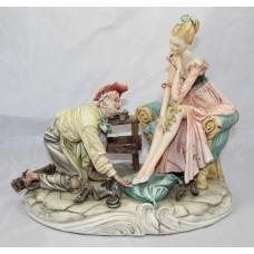 Capodimonte 'Sogno-del-Ciabattino' Porcelain Sculpture by Galli