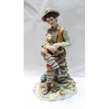 Capodimonte Shepherd Boy Figurine