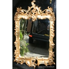 Carved Giltwood Mirror with Bevelled Glass