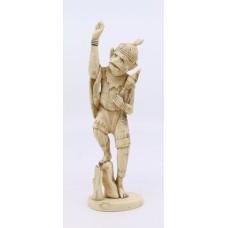Carved Ivory Monkey Okimono Meiji Period