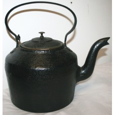 Antique 19th c. English 6 Quarts Cast Iron Kettle
