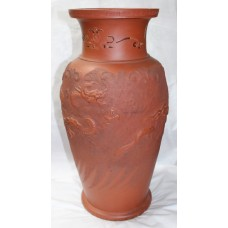 Chinese Dragon Terracotta Style Vase
