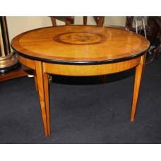 Circular Inlaid Satinwood Coffee Table