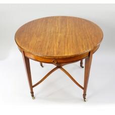 Circular English Satinwood Centre Table c.1910