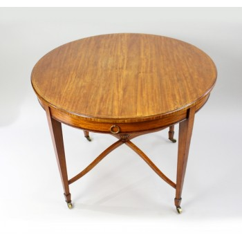 Circular English Satinwood Centre Table c.1910