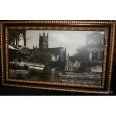 City of Worcester Montage Set in Gilt Frame