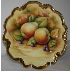 Coalport Bone China Hand Painted Fruit Cabinet Plate by Joseph Mottram