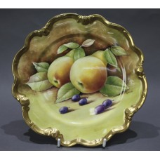 Coalport Hand Painted Fruit Cabinet Plate by D.Pass
