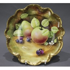 Coalport Hand Painted Fruit Cabinet Plate by Gidman