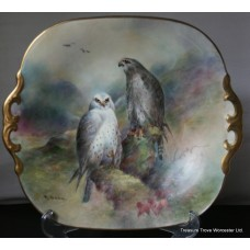Coalport Hand Painted Birds of Prey Plate by Richard Budd