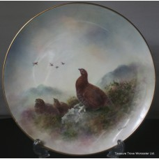 Coalport Hand Painted Grouse Plate by Richard Budd