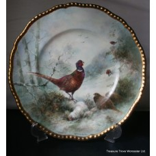 Coalport Hand Painted Pheasants Plate by Richard Budd