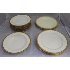 Collection of Early 20th c. Royal Worcester White & Gold Plates