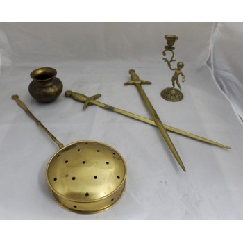 Collection of Assorted Vintage Brass Pieces
