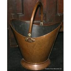 Copper Helmet Shaped Coal Log Bucket