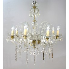 Fine Crystal French Eight Arm Lustre Chandelier