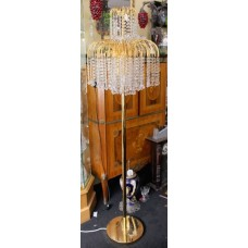 Crystal Gold Plated Chandelier Standard Lamp