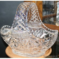 Cut Glass Crystal Stourbridge Basket