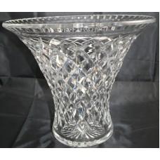Cut Glass Crystal Large Flared Vase