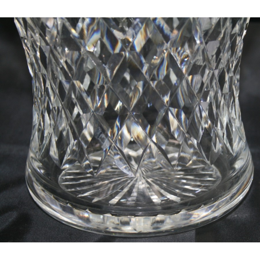 Cut Glass Crystal Large Flared Vase