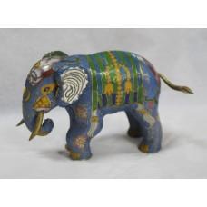 Decorative Brass Cloisonné Enamel Elephant