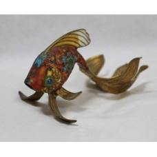 Decorative Brass Cloisonné Enamel Fish