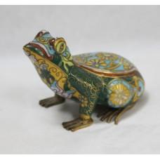 Decorative Brass Cloisonné Enamel Frog