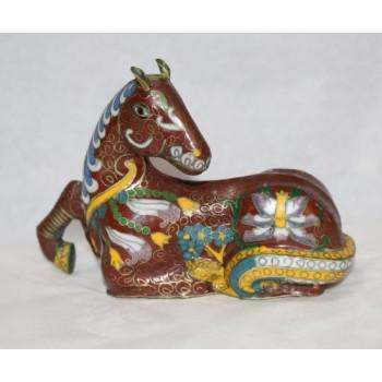 Decorative Brass Cloisonné Enamel Horse