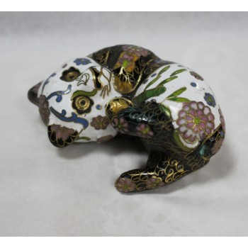 Decorative Brass Cloisonné Enamel Panda