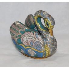 Decorative Brass Cloisonné Enamel Swan
